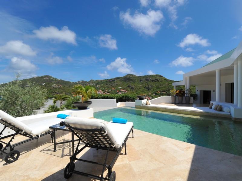 Location villa avec piscine Saint Barth