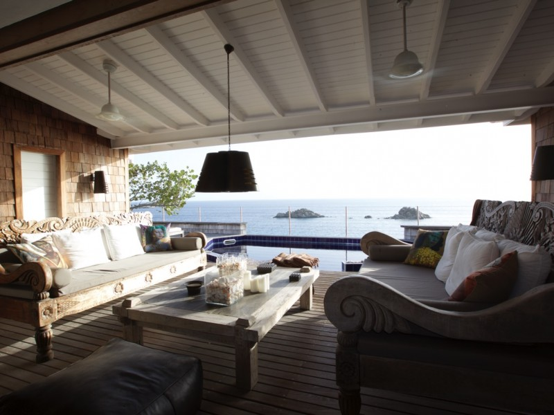 VILLA SKY VISTA GUSTAVIA 2 BEDROOMS POOL SEA VIEW