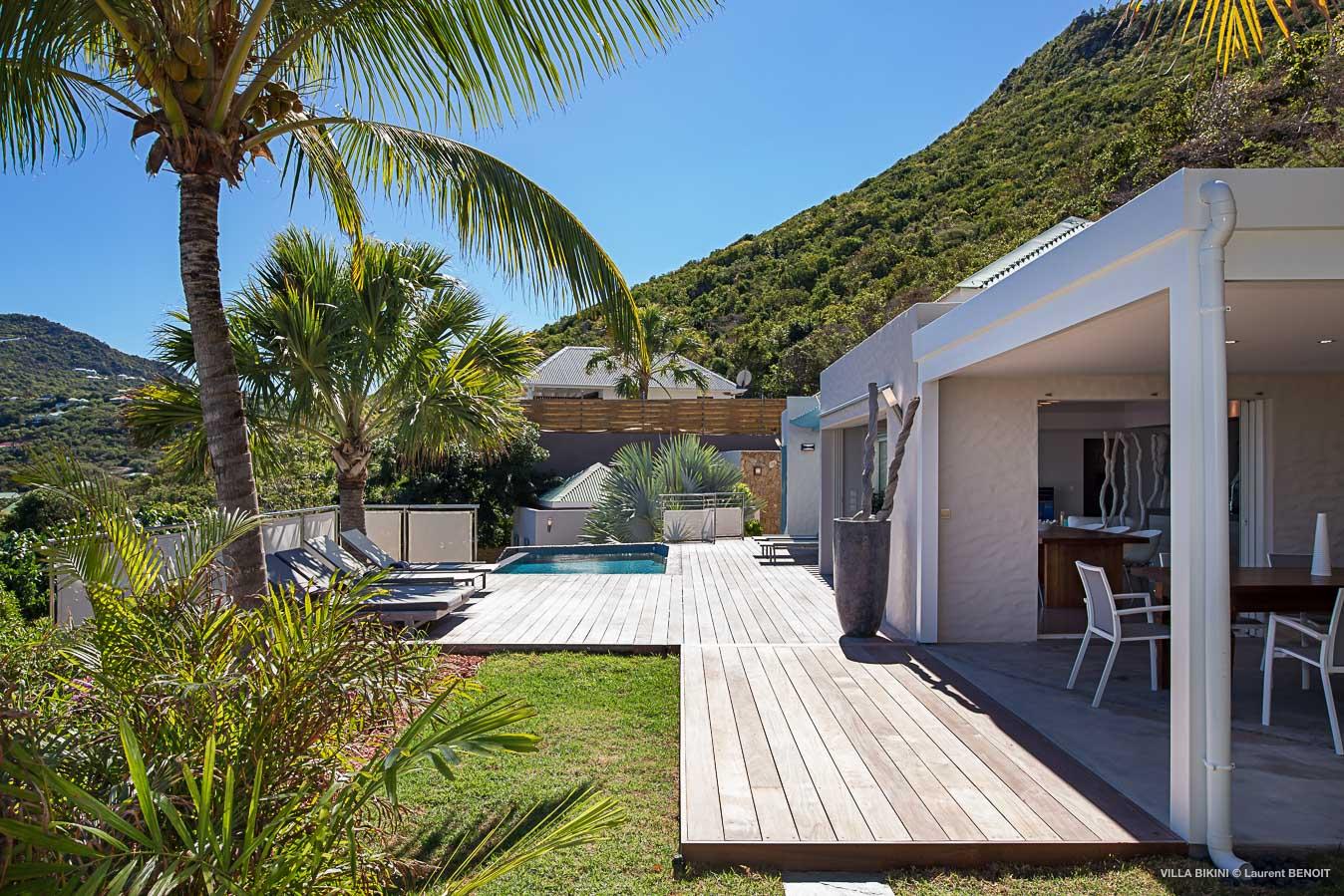 villa seasonal rentals 3 bedrooms st barts, lorient st barthelemy